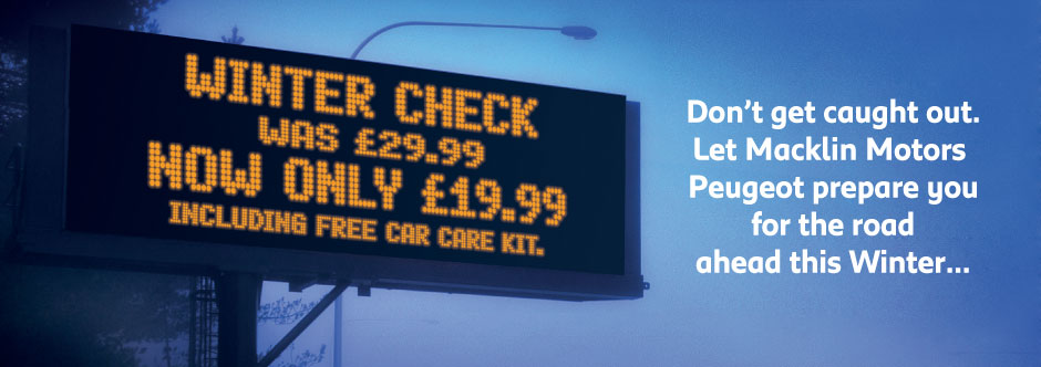 Peugeot Winter Check for only £19.99