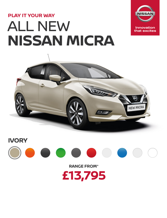 All New Nissan Micra Header Banner Ivory