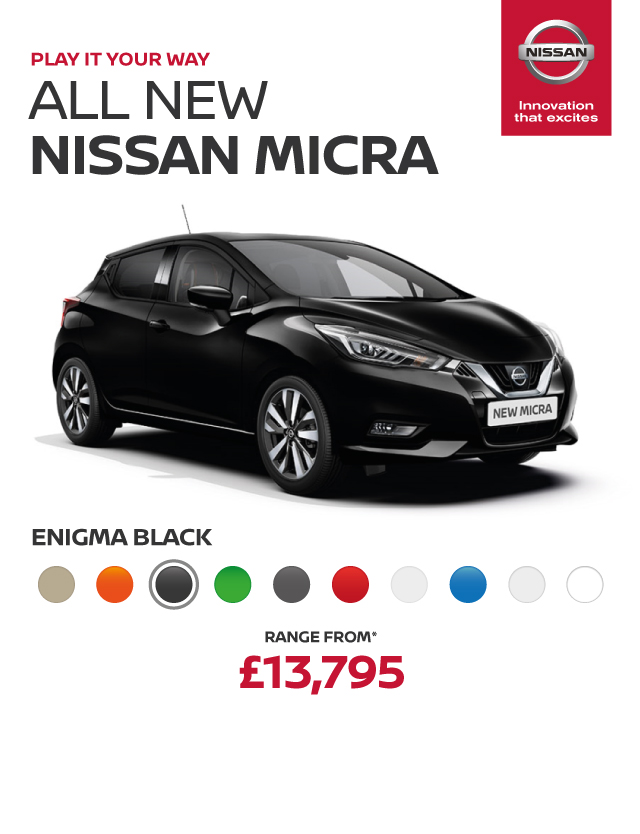 All New Nissan Micra Header Banner Enigma Black