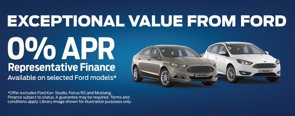Ford 0% APR On Selected Models Offer | Bristol Street Motors