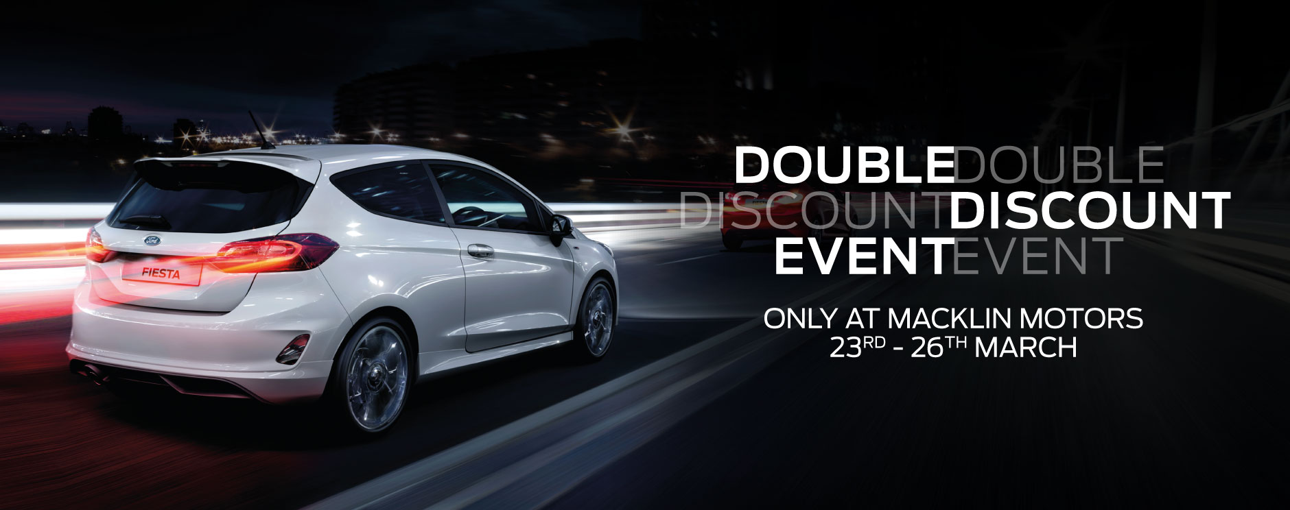 Ford double discount event banner