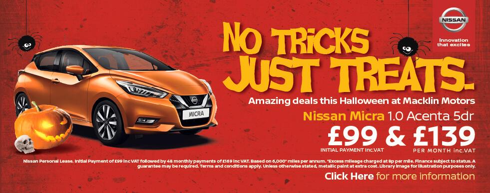 Nissan Halloween Deals | Macklin Motors