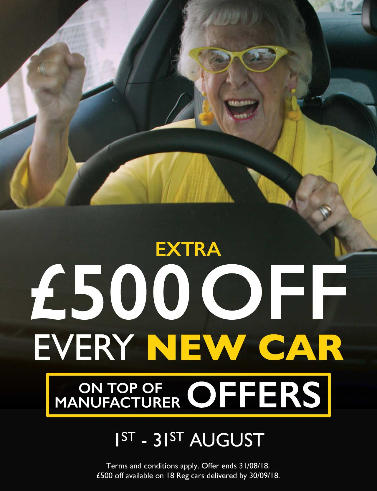 £500 Off New Car August 2018 - MM