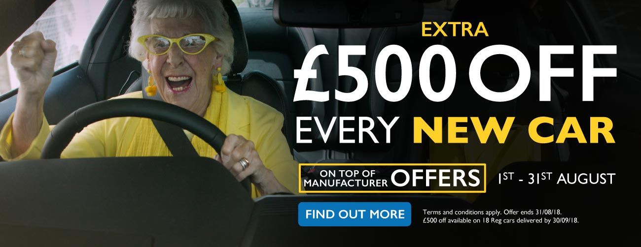 �500 Off New Car August 2018 - MM