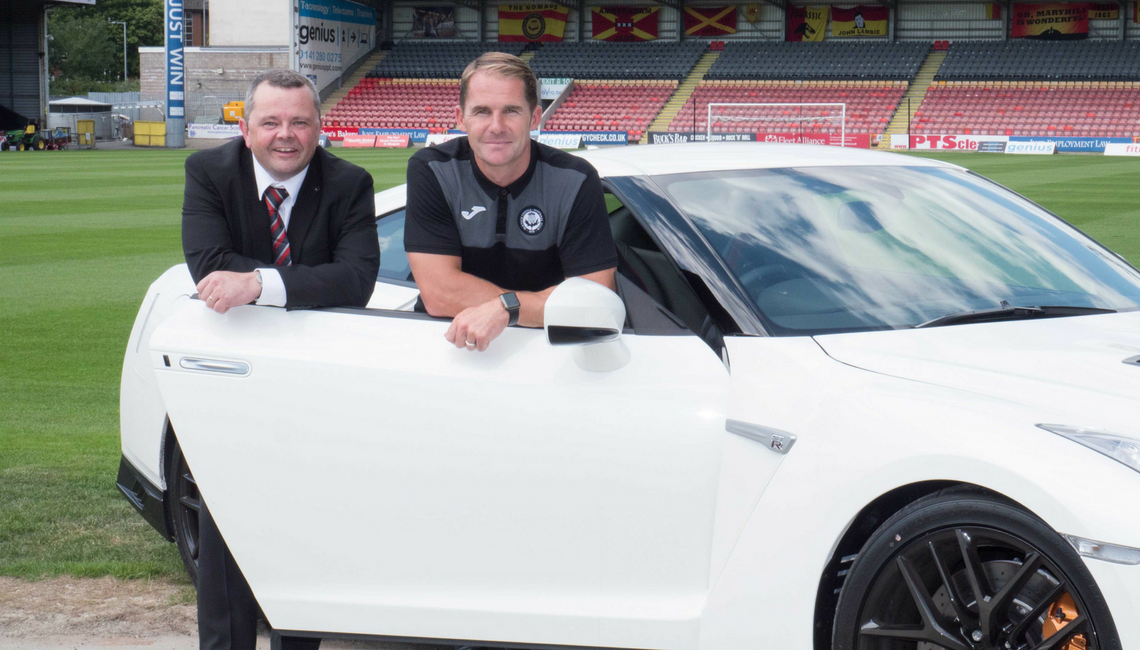 Macklin Motors Glasgow Nissan continues Thistle support