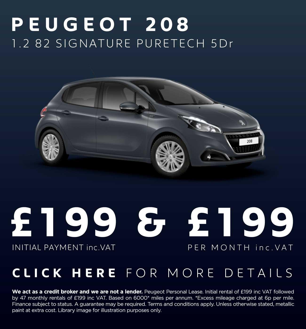 peugeot 208 deals new peugeot 208 cars for sale macklin motors. Black Bedroom Furniture Sets. Home Design Ideas
