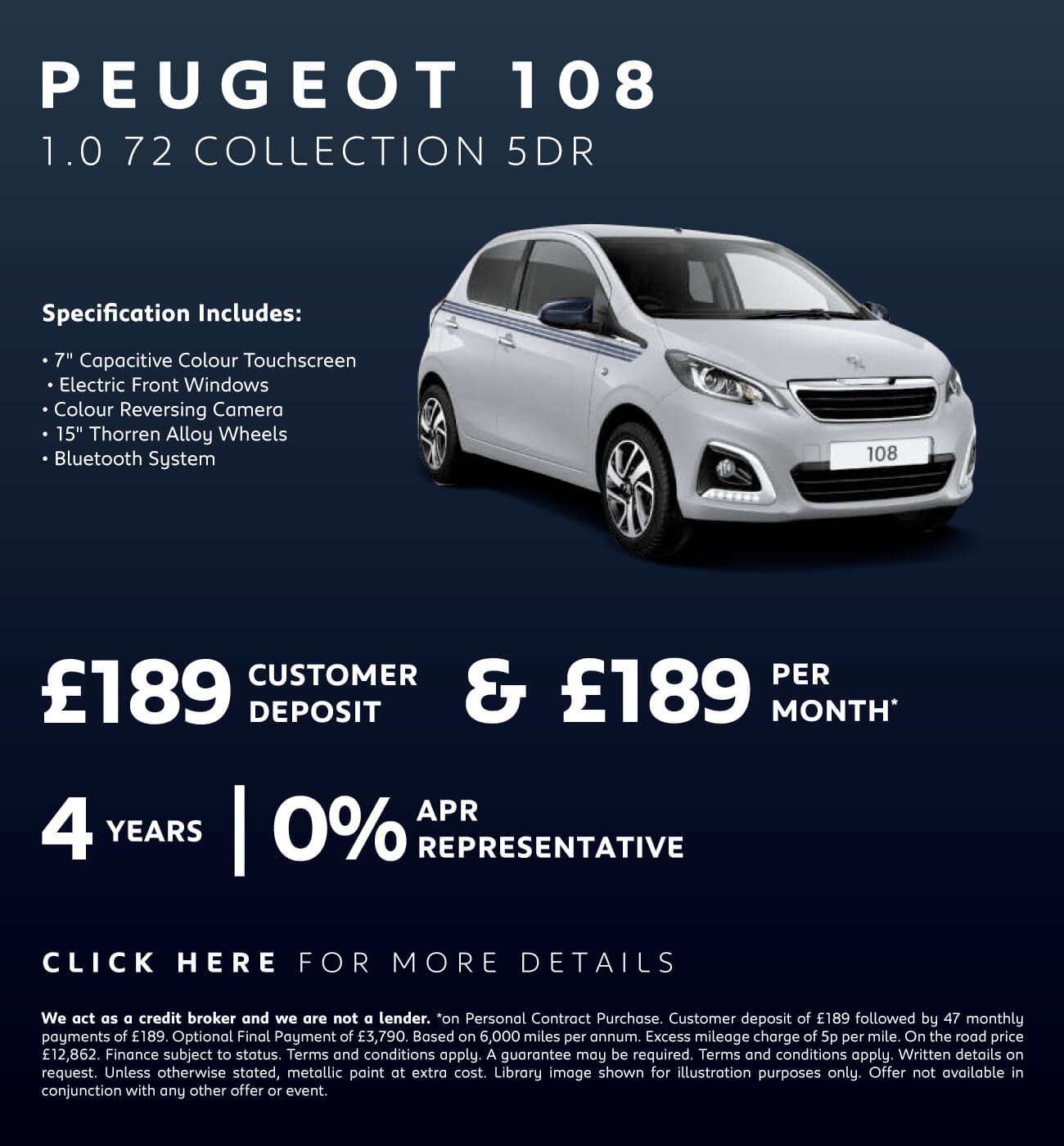 Peugeot 108 1.0 72 Collection 5Dr - Macklin Motors