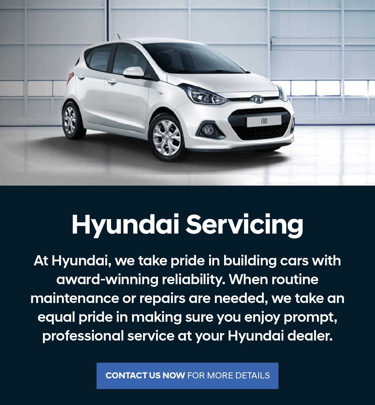 Hyundai Servicing Message