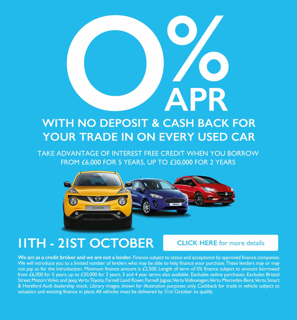 0% Used Car Event October 2019 - BSM MM