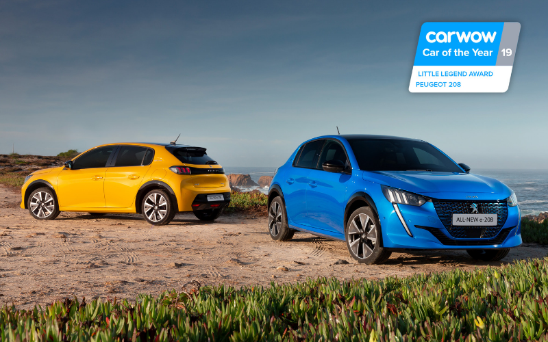 The All-New Peugeot 208 and E-208 Wins Carwow 'Little Legend' Award