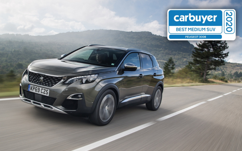 Peugeot 3008 Wins Best Medium SUV At The Carbuyer Best Car Awards 2020