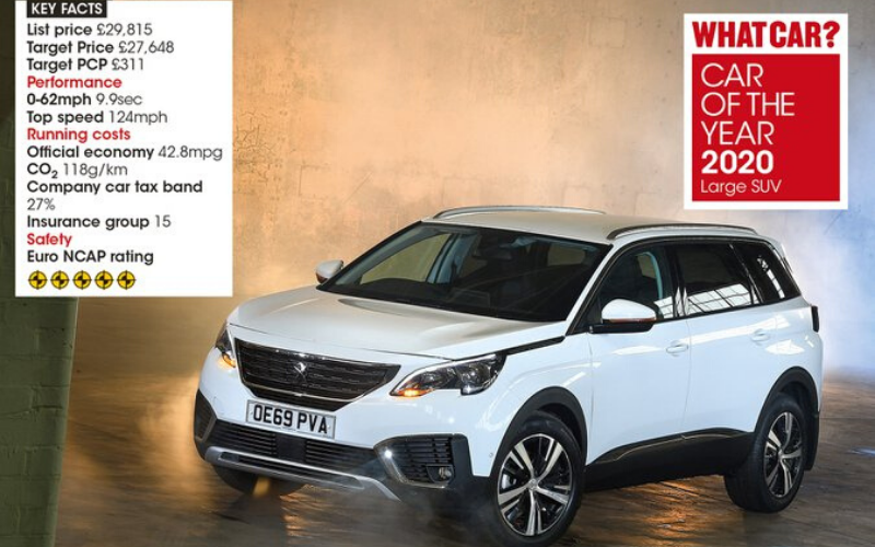 The Peugeot 5008 Is Crowned Best Large SUV At The Annual What Car? Awards