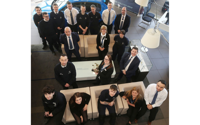 Major National Award For Macklin Motors Peugeot Paisley