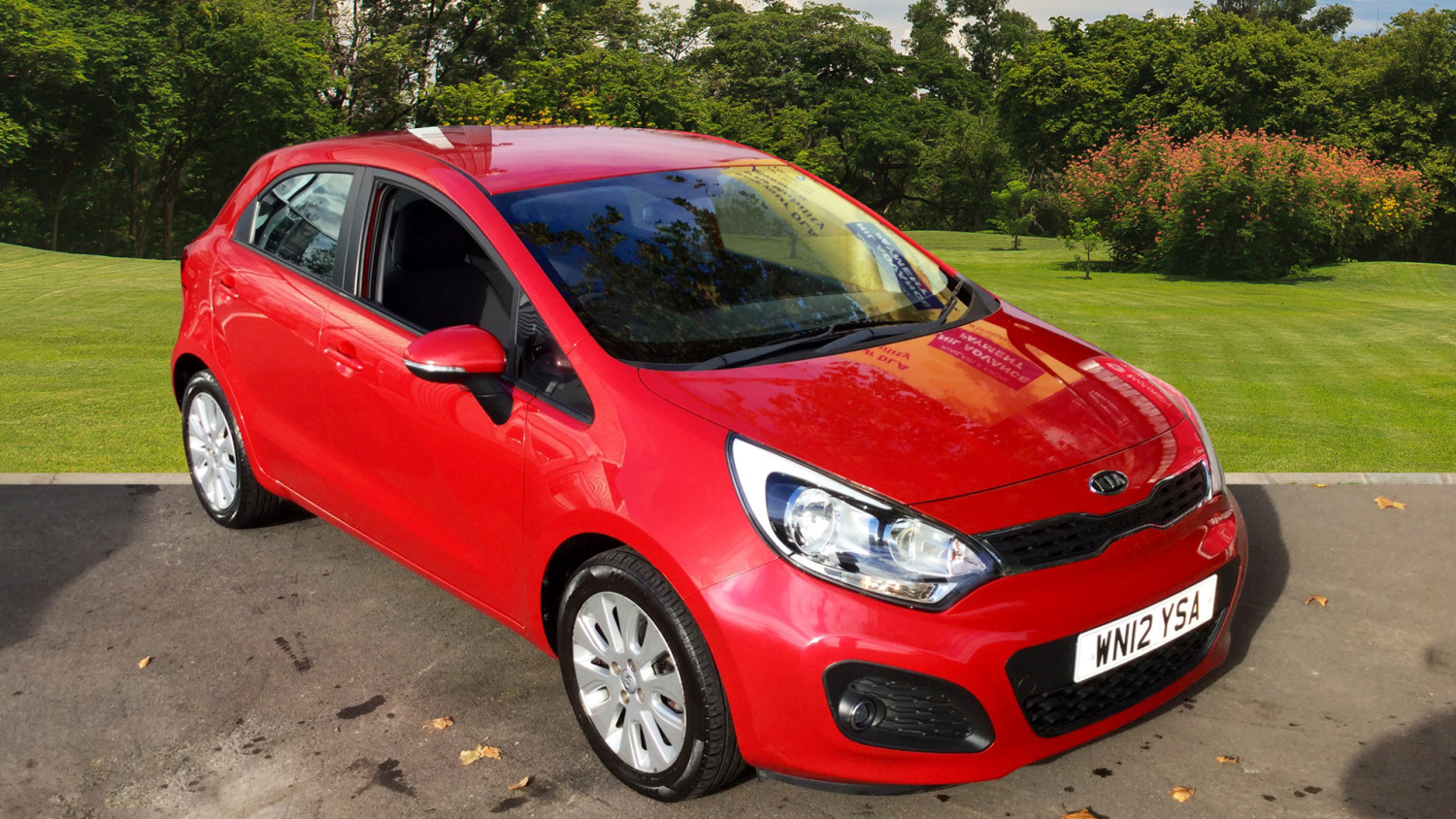 used kia rio 2 5dr petrol hatchback for sale in scotland macklin motors. Black Bedroom Furniture Sets. Home Design Ideas