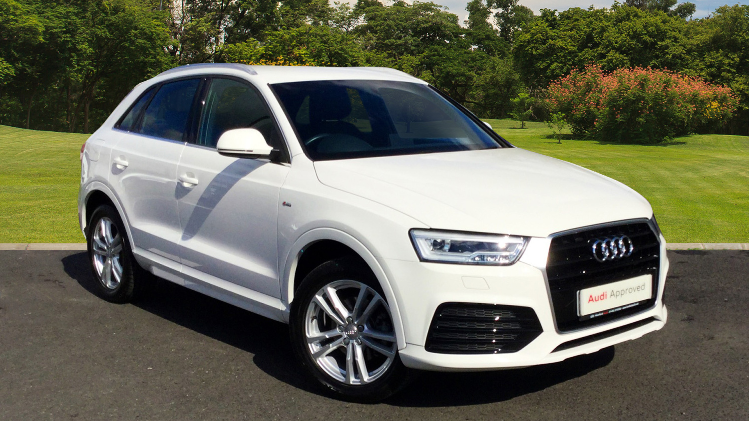 used audi q3 2 0 tdi s line 5dr diesel estate for sale in. Black Bedroom Furniture Sets. Home Design Ideas